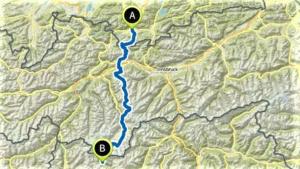 Route unserer Alpenueberquerung L1kurz