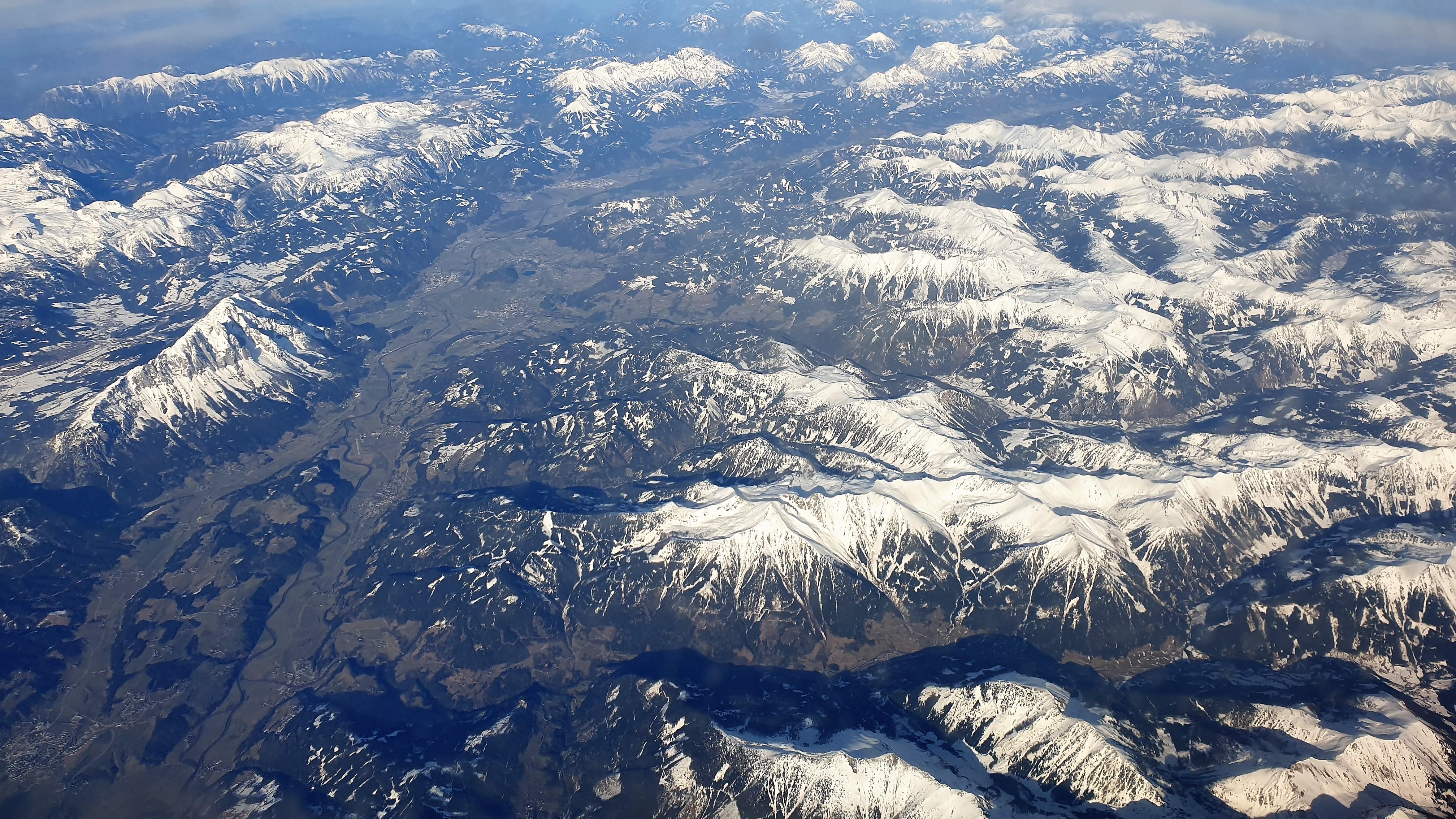 Alpen aus der Vogelperspektive