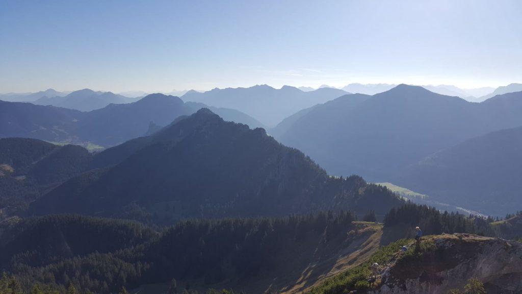 Blick vom Gipfel des Teufelstättkopfes