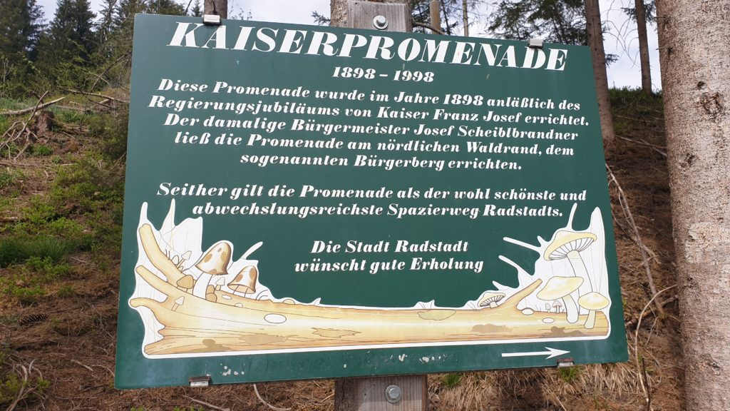 Beginn der Kaiserpromenade