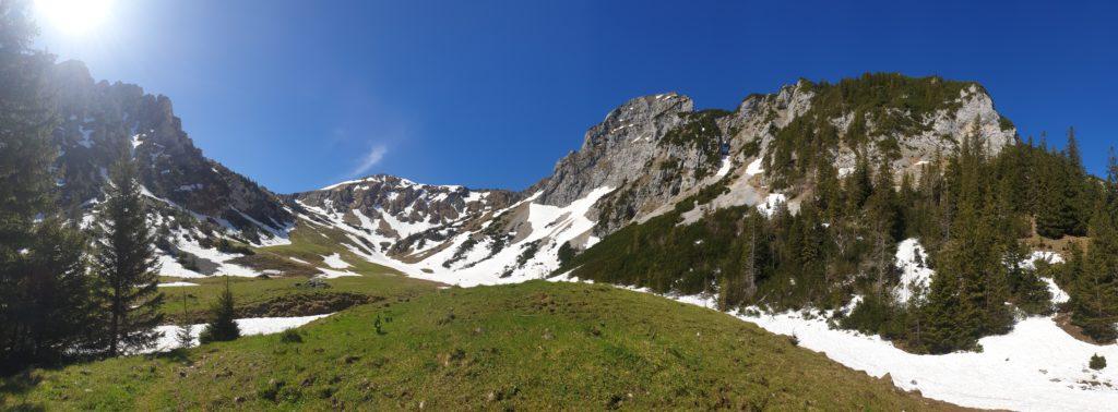Wanderweg zwischen Sabachjoch und Musauer Alm