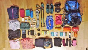 Alle Gegenstände der Packliste