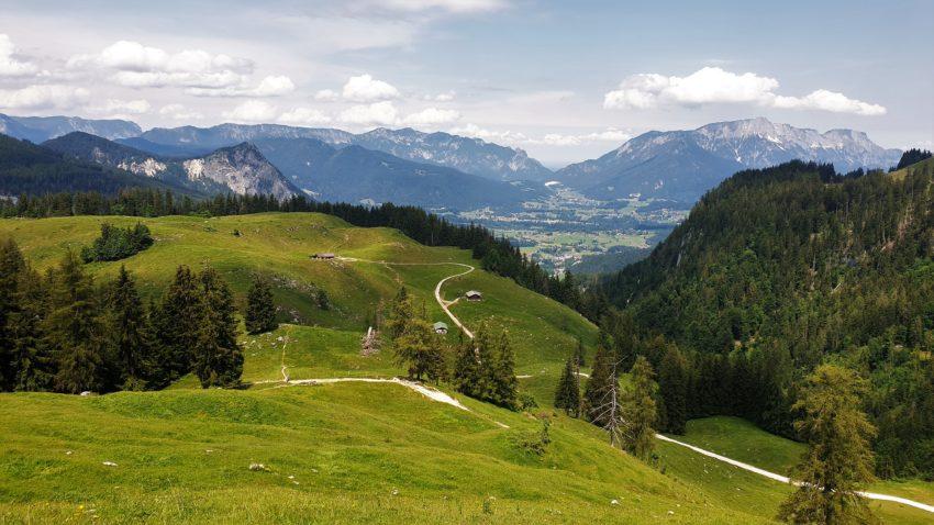 Bergpanorama der Berchtesgadener Alpen