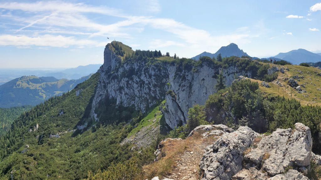 Blick vom Bockstein auf den Breitensteingipfel