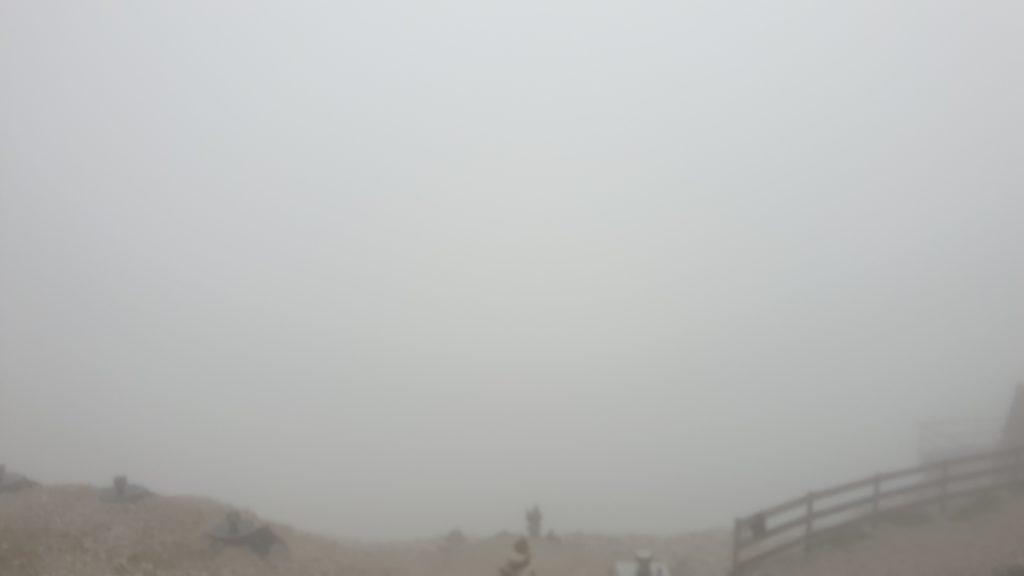 Nebel an der Knorrhütte