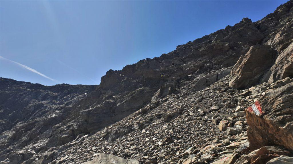 Kletterei zur Finstertaler Scharte