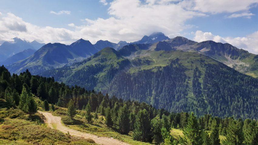 Blick auf die Ötztaler Alpen