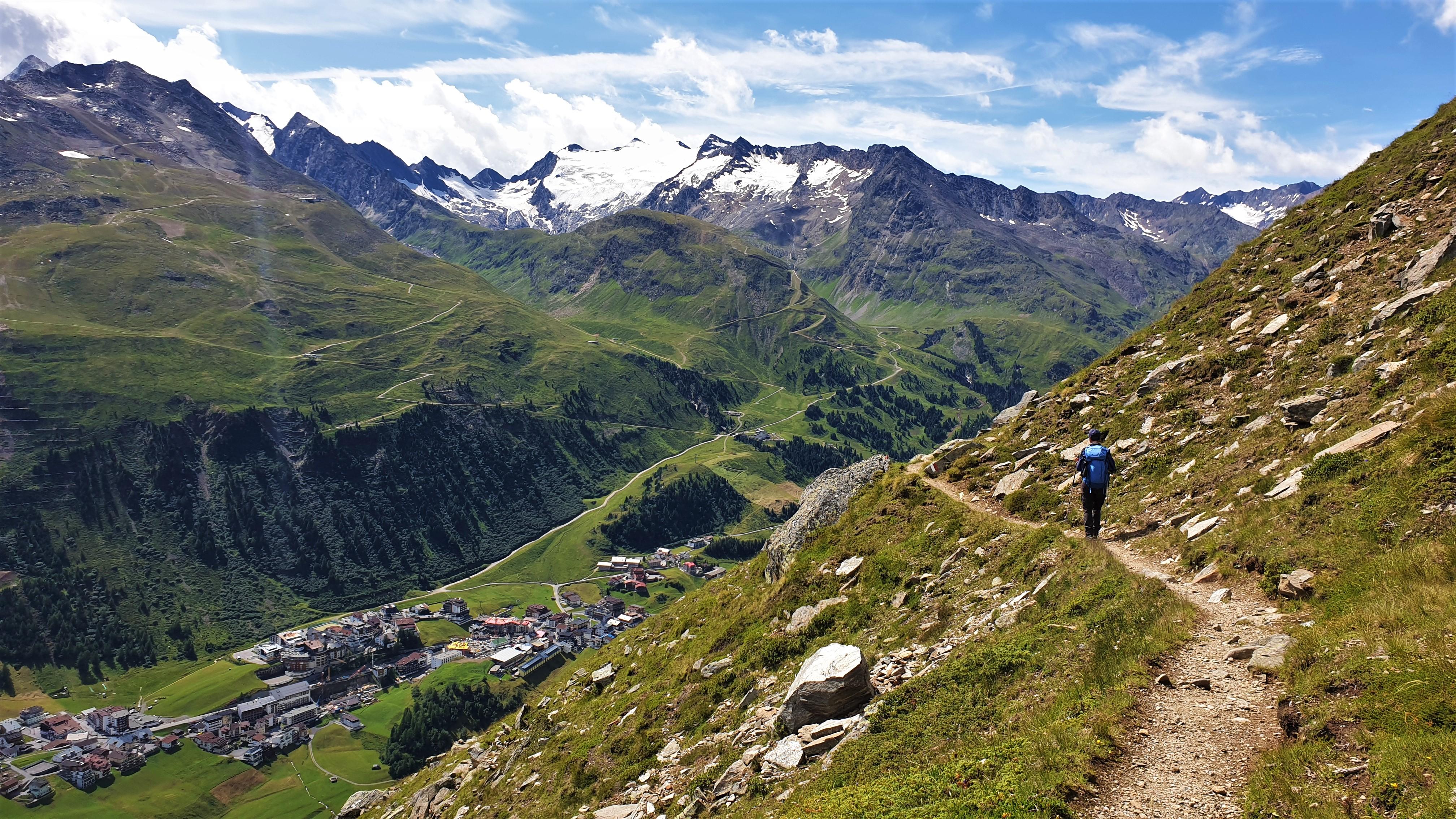 Schönstes Foto Landschaft: Gurgler Tal mit Hochgurgl un den Gipfeln der Stubaier Alpen