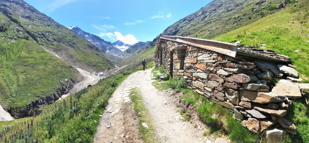 Der Weg zur Martin-Busch-Hütte