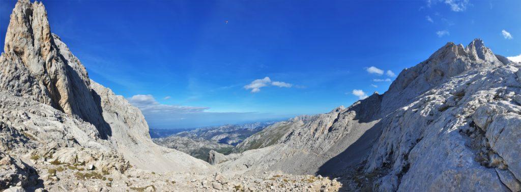 Höchster Punkt der Tourm it Blick auf die Picos